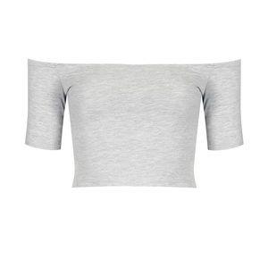 TOPSHOP Off-Shoulder Crop Top